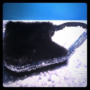 Black Fuzzy Bag